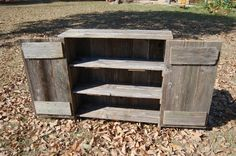 "Recycled Wood Cabinet.  36"" Tall (always the same).   33-36"" Long.   11-12"" Wide."