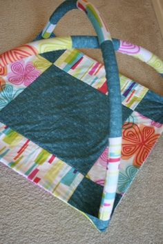 Baby Activity Mat - Why didn't I think of making this?! Next time...