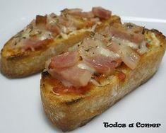 bacon y queso Tapas Recipes, Snack Recipes, Spanish Recipes, Tapas Bar, Yummy Food, Tasty, Kitchen Dishes, Snacks, Good Healthy Recipes