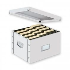Letter/Legal File Box, White - White - Snap-N-Store - SNS01808