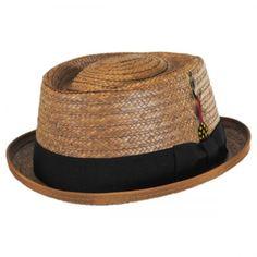 New York Hat Company Be Bop Coconut Straw Pork Pie Hat Straw Fedoras 3cf0d1137c5