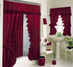 Bathroom curtains   - For more go to >>>> http://bathroom-a.com/bathroom/bathroom-curtains-a/  - Bathroom curtains,Uses of bathroom curtains mainly concentrate on protecting one's privacy while other people are using the bathroom and prevent water from the shower to splash on the bathroom floor and wet the bathroom rugs. The selections of bathroom curtains in the market are completely un...