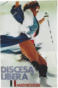 Original vintage poster DISCESA LIBERA SKI SPORTS SEXY GIRL #PhotoRealism