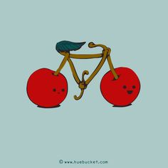 Cherry Bike! llustrations daily #57