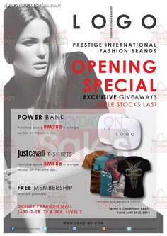 9 Jan-28 Feb 2015: LOGO Fashion Lounge & Gallery Opening Special Promotion