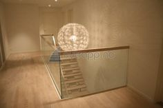 glass + tredrager Glass Railing, Scandinavian Design, Entryway Tables, Stairs, Railings, Inspiration, Furniture, Home Decor, Ideas