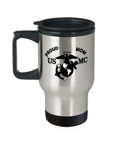 Marine Corps Travel Mug USMC Gift Military Travel Mug Marine