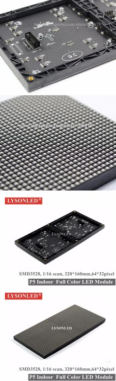 LYSONLED P5 Indoor SMD3528 Full Color LED Display Module 1/16 Scan 320*160MM, P5 Indoor RGB 3-IN-1Led Display Panel 64*32 Pixels