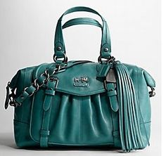 Coach Madison Leather Teal $75