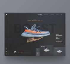 Landing Page User Interface Design For E-Commerce Sneakers Store Ui Ux Design, Interface Design, User Interface, Design Agency, Graphic Design, E Commerce, Web Layout, Layout Design, Creation Web