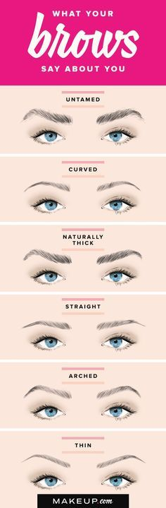 Eyebrows are ruling the world of beauty, and the bigger the better! There are many different types of brow shapes, so whether your brows are curved, straight or have a high arch, our guide will help y (Natural Makeup Step) Beauty Make-up, Beauty Hacks, Hair Beauty, Beauty Tips, Eyebrow Makeup, Skin Makeup, Eyebrow Tips, Eyebrows On Fleek, Eye Brows