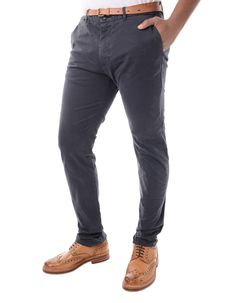 Scotch & Soda Navy Slim Fit Dye Chino Pant