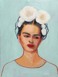 """FRIDA AND MAGNOLIAS"" by Elizabeth Braun. Paintings for Sale. Bluethumb - Online Art Gallery Buy Art Online, Paintings For Sale, Buy Art, Painting, Art, Portrait, Online Art Gallery"