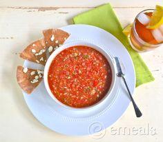 eMeals Clean Eating Gazpacho and Goat Cheese Flatbread