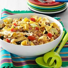 Taco Salad - a salad with Fritos in it is my type of salad!