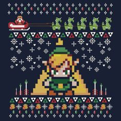 Legend of Zelda Ugly Christmas Sweater | Gifts for Gamers ...