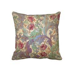 Vintage Floral Pattern - 1 Throw Pillows #throwpillow #pillow #homedecor #victorian #artnouveau #vintage