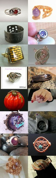 Self Representing Artists in Jewelry Design (SRAJD) - Rings! by Sharon Rook-Orella on Etsy--Pinned+with+TreasuryPin.com