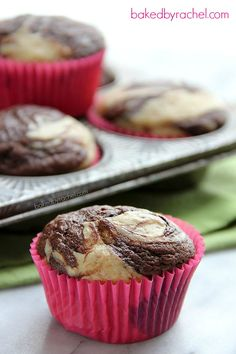Banana Chocolate Marble Muffin Recipe from bakedbyrachel.com