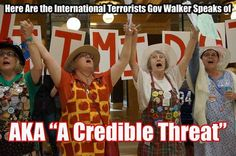 Here are the International Terrorists Gov Walker Speaks of...
