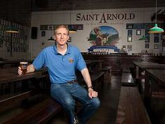Enjoying a beer with Brock Wagner, founder of St. Arnold Brewing Company in Houston, Texas.