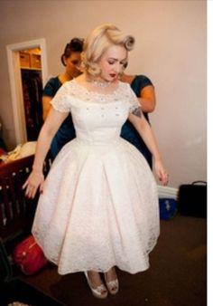Rockabilly bride. Beautiful