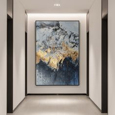Large abstract Gold leaf Moutain painting framed wall art paintings on canvas acrylic black navy blue painting Ymipainting wall pictures Goldblatt moderne Kunst abstrakte Gemälde auf Leinwand Acryl image 0 Large Canvas Art, Large Wall Art, Abstract Canvas, Acrylic Painting Canvas, Framed Wall Art, Acrylic Art, Black Canvas, Framed Canvas, Framing Canvas Art