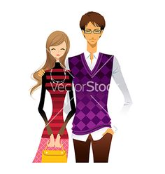 Portrait of couple vector by zzve on VectorStock®