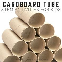 Awesome cardboard tube STEM activities using one of the most common household supplies. Perfect recycled STEM idea, cardboard tube STEM is kid friendly!