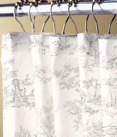 0a2d645d818 Lenoxdale Toile Shower Curtain Toile Curtains