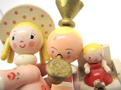 Vintage wooden Nursery Rhyme Mother Goose Figures by CabinOn6th, $7.00