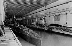 German Kriegsmarine U Boat Bunker in St Nazaire 1942 Bunker, Female Race Car Driver, St Nazaire, German Submarines, Ww2 Pictures, Naval History, Interesting History, Aircraft Carrier, Royal Navy