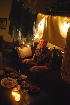 Go date in a tent in the living room!