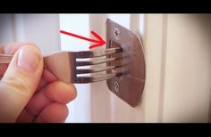 WATCH: This Is A Regular Fork, But This DIY Trick Could Secure Your Home In An Emergency