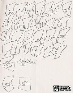 Graffiti Lettering Alphabet, Graffiti Text, Graffiti Piece, Graffiti Writing, Tattoo Lettering Fonts, Graffiti Tagging, Graffiti Styles, Cool Lettering, Street Art Graffiti