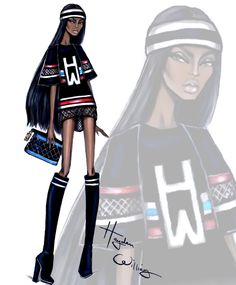 Hayden Williams Fashion Illustrations | Athleisure by Hayden Williams: Look 2