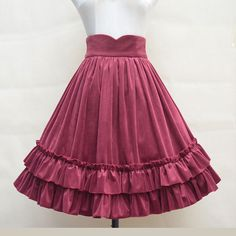 Aliexpress.com : Buy Vintage Corduroy Skirt Sweet Ruffled High Waist Midi Skirt from Reliable Skirts suppliers on LoliGals Lolita Store
