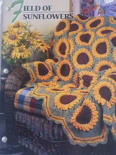 Field of Sunflowers Afghan Annie's Crochet & by CarolsCreations77, $1.50
