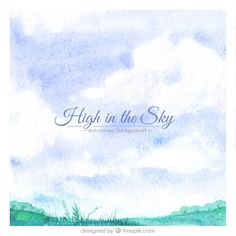 High in the sky background Free Vector