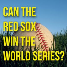 Oh yes they can!! GO SOX!!