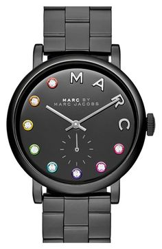 MARC BY MARC JACOBS 'Baker' Crystal Index Bracelet Watch, 37mm available at #Nordstrom