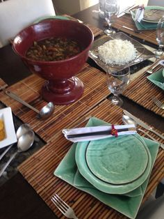 Chinesse table and chop suey