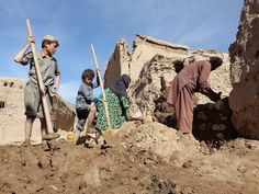 https://flic.kr/p/zEUDDf | PHOTO OF THE WEEK: 2 November 2015 | Afghanistan, 2015: Habibur Rahman (right), his two sons and his elderly mother are rebuilding their destroyed home in Kashaktan Village, northern Takhar Province, in the wake of the 7.5-magnitude earthquake that hit the country on 26 October. Over 10,000 homes have been damaged or destroyed in the disaster. With freezing temperatures setting in, families – many of whom are now living in the open – are racing to rebuild…