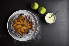 Pear upside-down cake recipe from Fisher & Paykel Social Kitchen