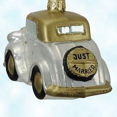 My wishlist....Kurt Adler blown glass wedding ornament!