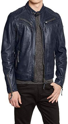 Spazeup N7 Mass Effect 3 Leather Jacket Mens Lambskin Jacket