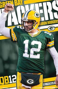 Aaron Rodgers Green Bay Packers Poster at AllPosters.com