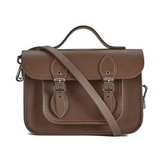 The Cambridge Satchel Company Women's 11 Inch Magnetic Batchel -... (£125) ❤ liked on Polyvore featuring bags, handbags, brown satchel handbag, satchel handbags, vintage leather purse, leather purse and brown satchel purse