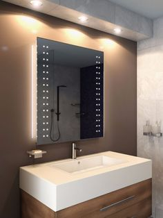 Interesting DIY Vanity Mirror Ideas to Consider for Your Residence Bathroom Mirror Redo, Diy Vanity Mirror, Mirror Mosaic, Large Medicine Cabinet, Mantel Mirrors, Huge Mirror, Large Bathrooms, Mirror Ideas, House Design