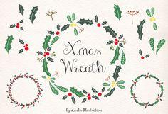 grafiker.de - Kostenloser Weihnachtskranz als Vektorgrafik